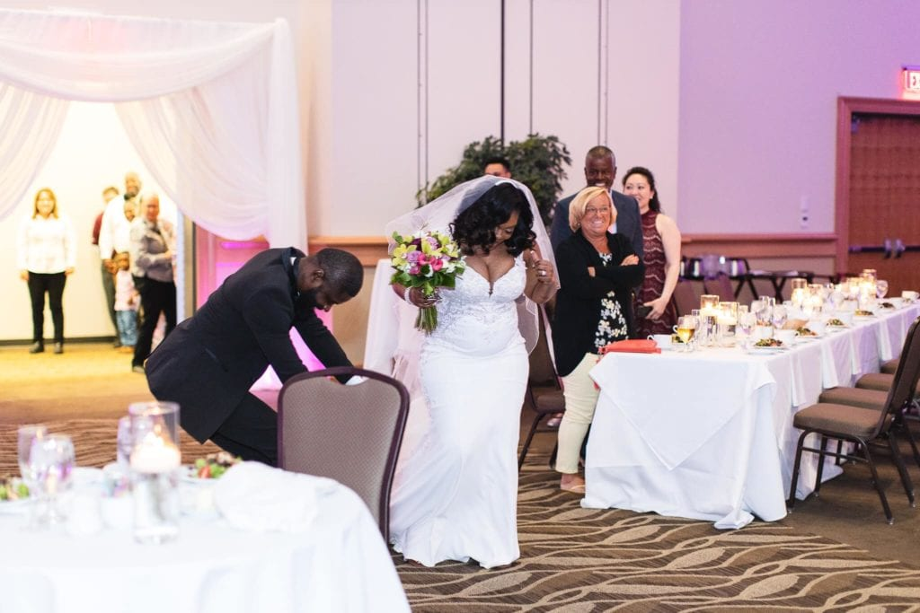 photo of wedding in cross insurance center ballroom