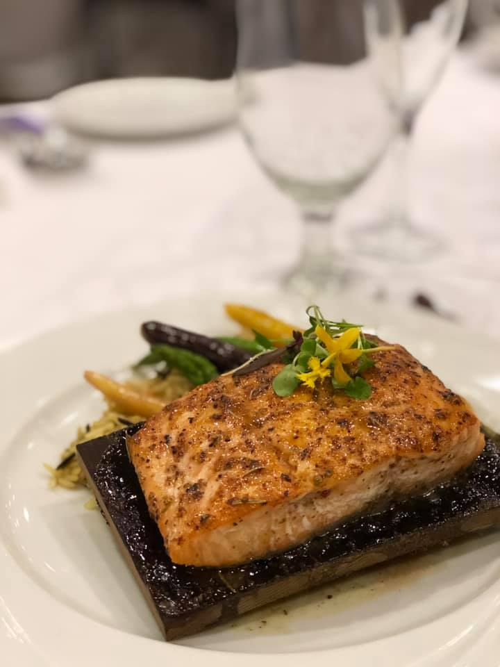 wedding food salmon photo