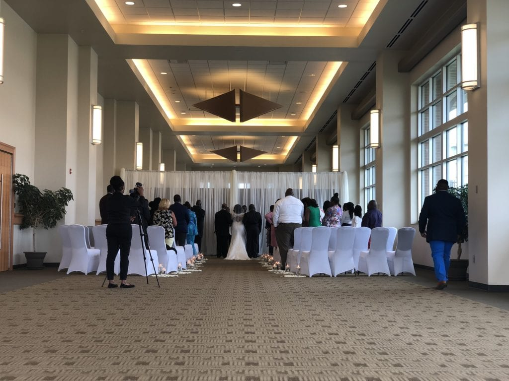 Image of the Sharpe Wedding at the Cross Center in 2019