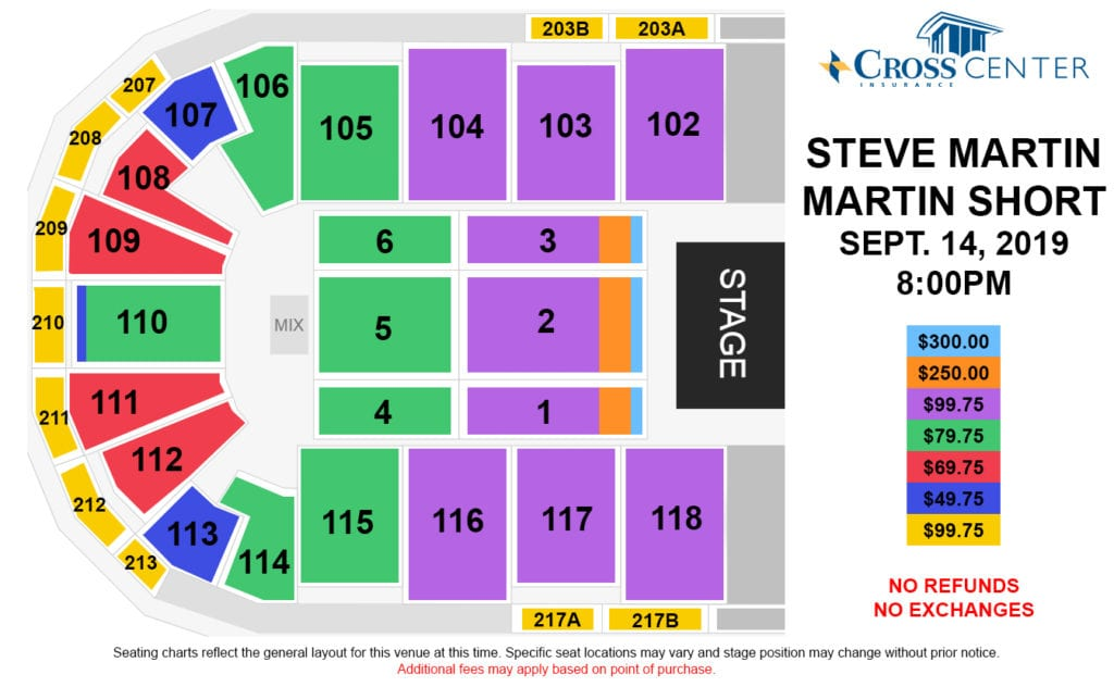 steve martin martin short seating chart graphic
