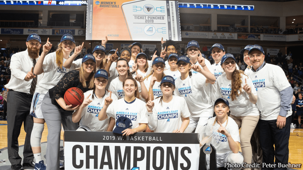 umaine womens basketball america east champions photo