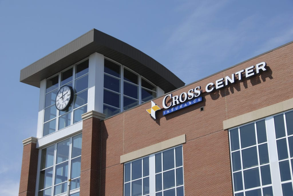 external photo of cross insurance center