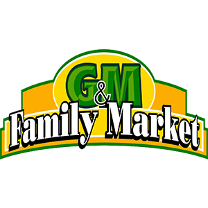 g and m family market logo