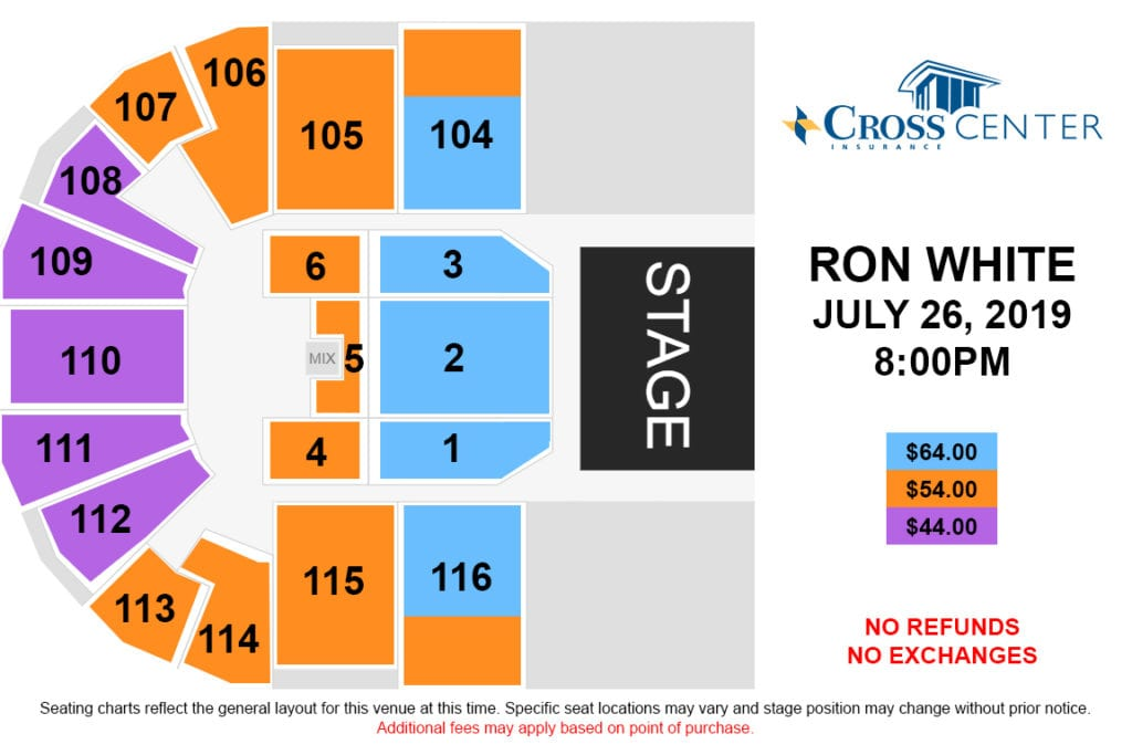 ron white seating chart graphic
