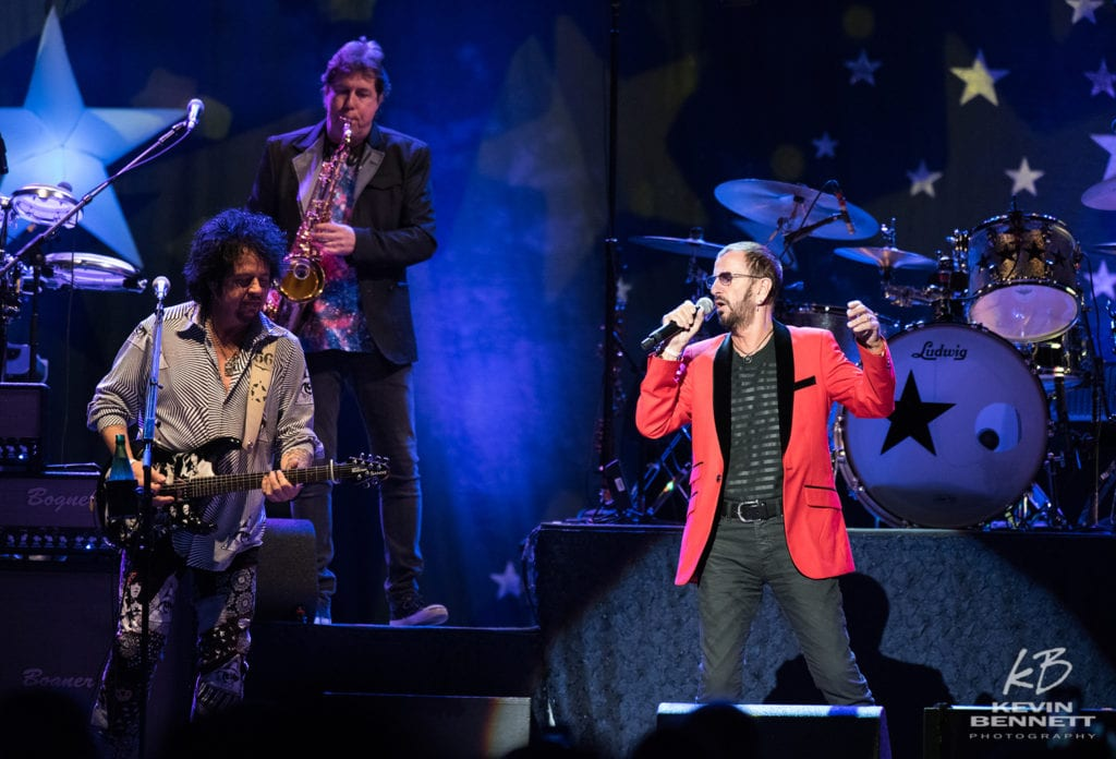 photo of ringo starr in concert in the cross insurance center arena