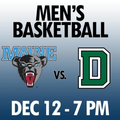 men's basketball maine vs dartmouth dec 12 7pm graphic
