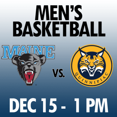 men's basketball maine vs quinnipiac dec 15 1pm graphic