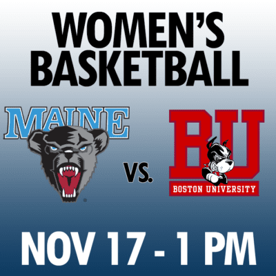 women's basketball maine vs boston university nov 17 1pm graphic