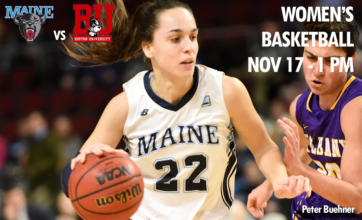 photo maine womens basketball player maine vs boston university