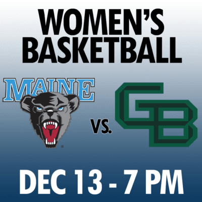 women's basketball maine vs green bay dec 13 7pm graphic