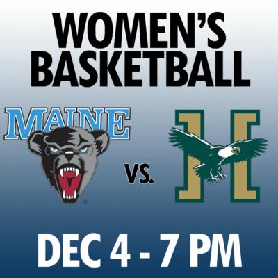 women's basketball maine vs husson dec 4 7pm graphic