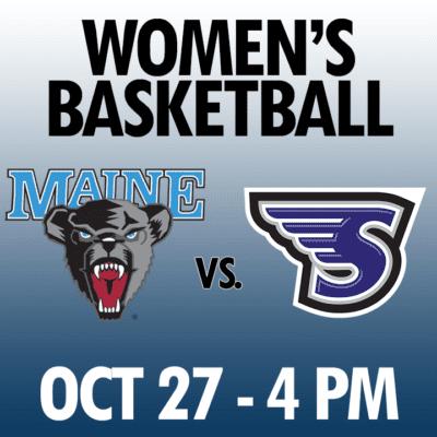 women's basketball maine vs stonehill oct 27 4pm graphic