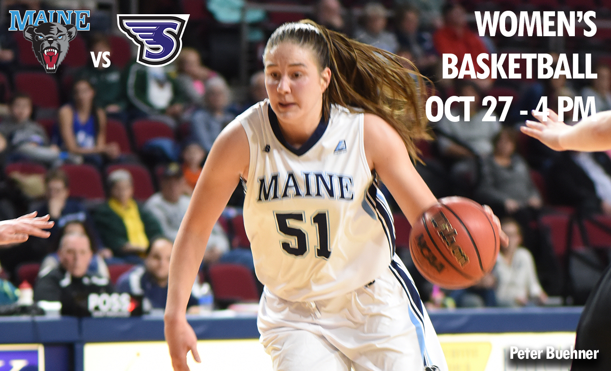 photo maine womens basketball player maine vs stonehill