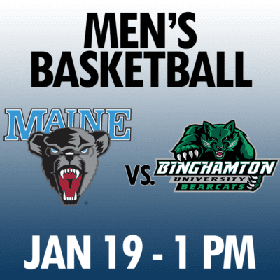 men's basketball maine vs binghamton jan 19 1pm graphic