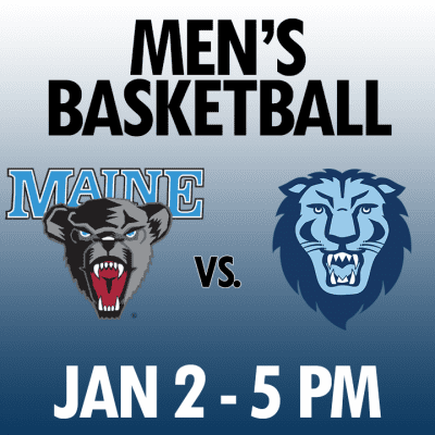 men's basketball maine vs columbia jan 2 5pm graphic