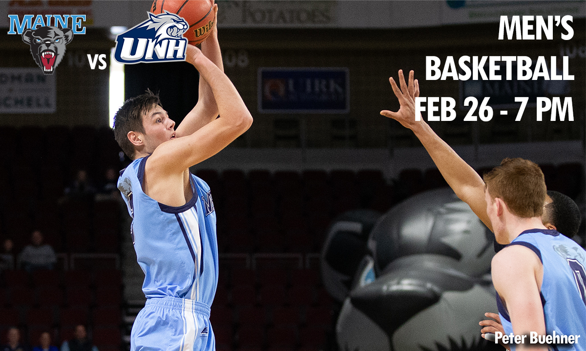 photo maine mens basketball player maine vs unh