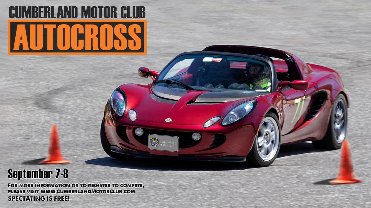 cumberland motor club autocross september 7-8 graphic