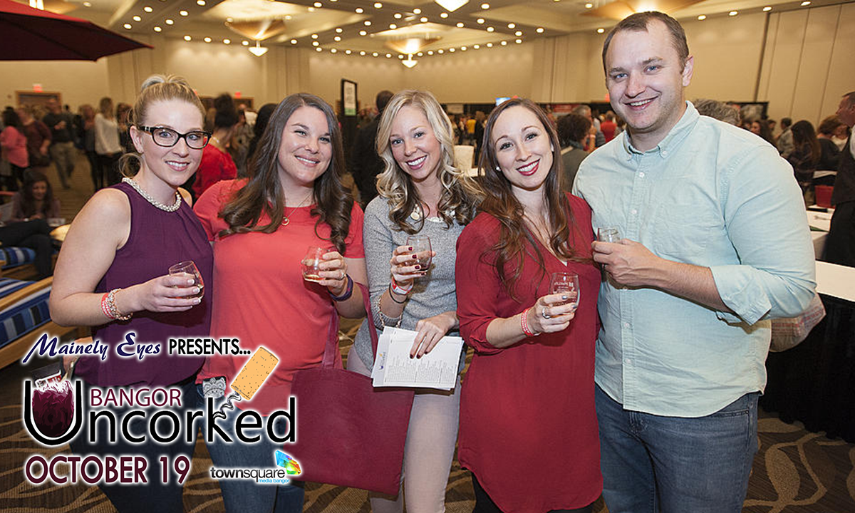 photo of participants at mainely eyes presents bangor uncorked october 19