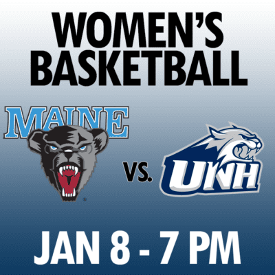 women's basketball maine vs unh jan 8 7pm graphic