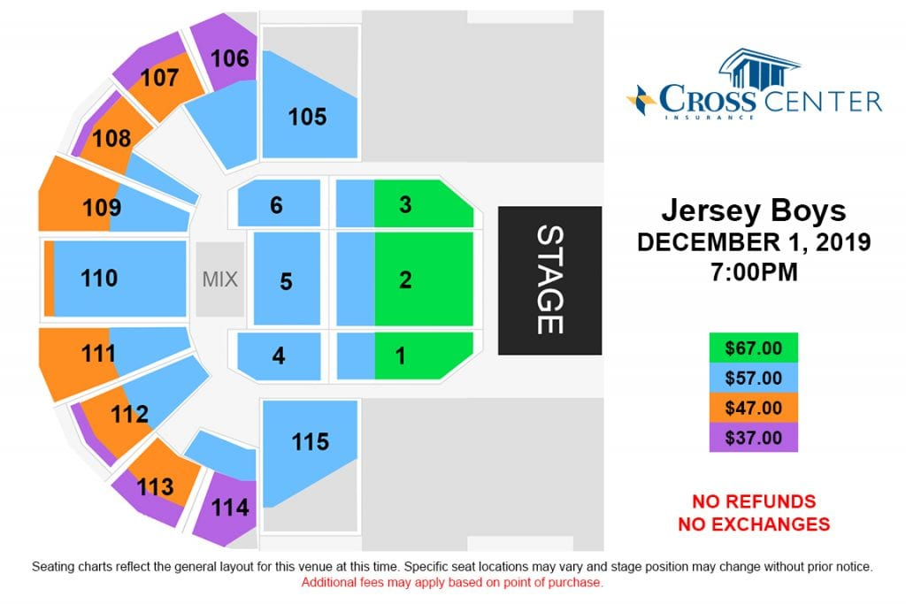 jersey boys seating chart graphic