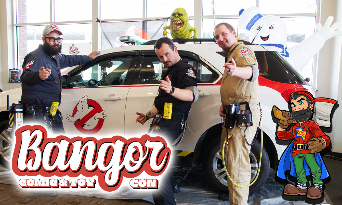 bangor comic and toy con ghostbusters photograph graphic