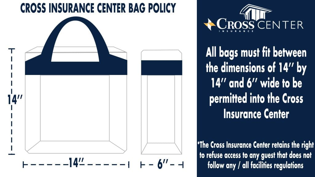 Image of the Cross Insurance Center Bag Policy.