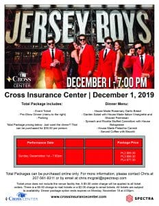 Jersey Boys Group Flyer 2019 Dinner